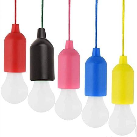 LYYWE Bombilla Colgante Creativa Bombilla AA Lámpara LED de Colores Lámpara de cordón Bombilla Fiesta Jardín Decoración de iluminación Interior al Aire Libre, negroLuz de Noche: Amazon.es: Hogar