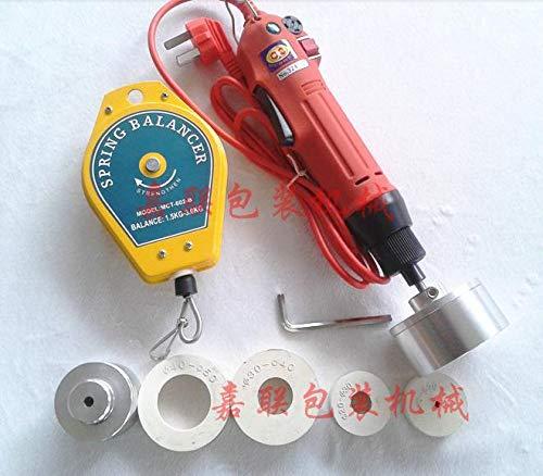 Huscus Electric Capping Machine for Screw Cap,Plastic Bottle Cap Lock Machine,Electric Bottle Capper (Diameter:10-50mm)