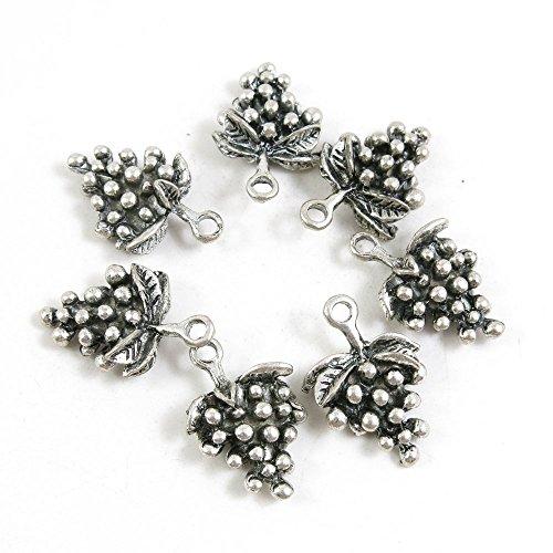 silver grape charms - 3