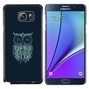 Pintura Arte Místico Luna Ojos- Metal de aluminio y de plástico duro Caja del teléfono - Negro - Samsung Galaxy Note5 / N920