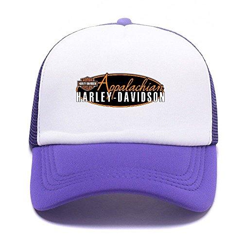 Harley D Black Baseball Caps Gorras de béisbol Trucker Hat Mesh Cap For Men Women Boy Girl 003 Purple