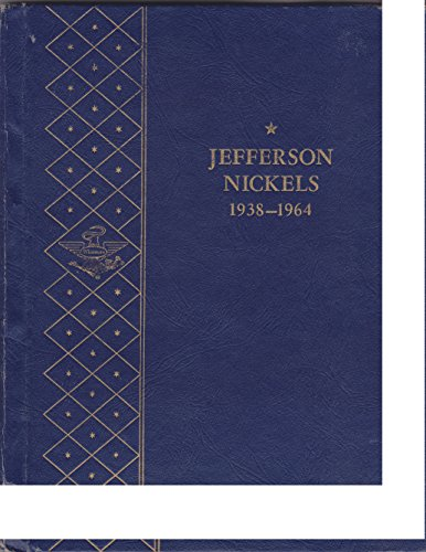 1938-1964 JEFFERSON NICKELS WHITMAN BOOKSHELF Copyright 1960 SERIES No 9410 COIN ALBUM FOLDER 2