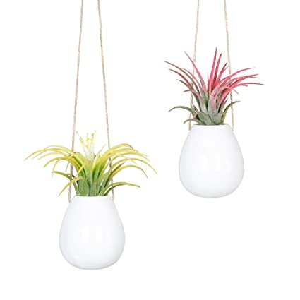 Lovely Amazon.com: Mkono 2 Pack Small Hanging Pot Ceramic Plant Planter  OR48