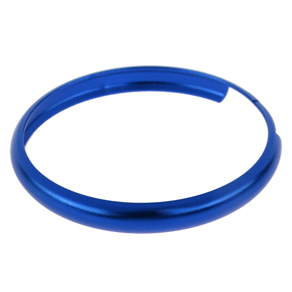 Silver and Blue D DOLITY 2 Pieces Smart Key Fob Replacement Rings for BMW Mini Cooper