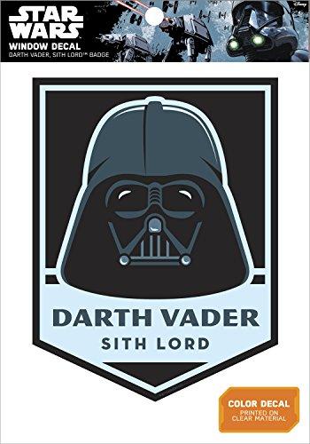 Star Wars Darth Vader Sith Lord Badge Window Decal