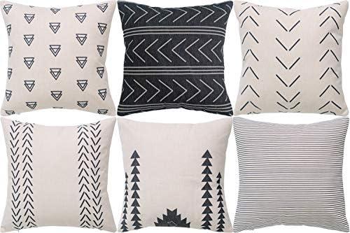DEZENE Geometric Patterns Decorative Pillow Cases product image
