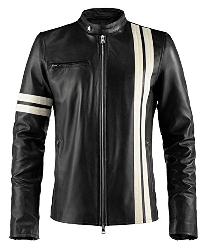 (2XL - Black - Genuine Leather - Driver San Francisco Jacket)