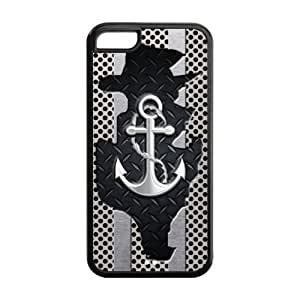 Anchor Protective Rubber Printed Cover Case for iPhone 5C,5C Iphone Cases for Guys