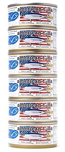 American Tuna 6oz MSC Certified with Garlic (No Draining) by American Tuna, Inc.