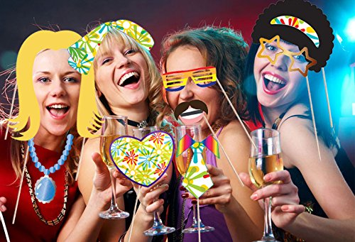 Hippie Decor Party Photo Booth Props by Express Novelties Online