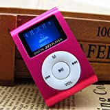 Sport Mp3 Music Player With Lcd Screen Metal Mini Clip Multicolor Portable Mp3 Player With Micro Tf/Sd Card Slot^