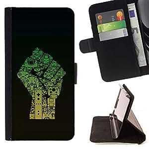Momo Phone Case / Flip Funda de Cuero Case Cover - Caming Computer Art Dibujo Revolución Pu?o - Sony Xperia Z3 D6603