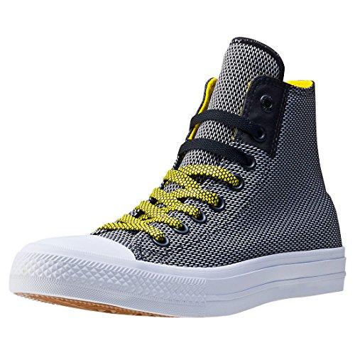 Converse Ctas Ii Hi Basket Weave Mens Trainer Nero / Bianco / Giallo
