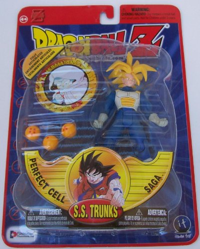 "Dragonball Z 5"" SS FUTURE TRUNKS in SAIYAN ARMOR Action Figure - PERFECT CELL SAGA - IRWIN TOYS"