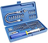 Eazypower 81971 103-Piece Security and Non-Security Screwdriver Tips Kit with Flex-A-Bit Extension and Push Pull Click Click Screwdriver in Heavy Duty Storage Case