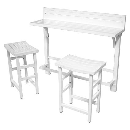 MIYU Furniture 3 Piece Balcony Bar U2013 Lily