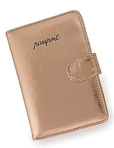Miamica Women's Passport Case Travel Wallet, Rose Gold