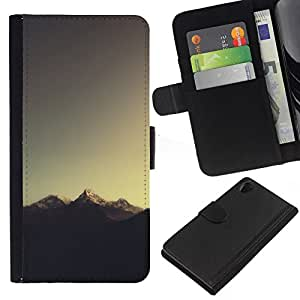 // PHONE CASE GIFT // Moda Estuche Funda de Cuero Billetera Tarjeta de crédito dinero bolsa Cubierta de proteccion Caso Sony Xperia Z2 D6502 / Mountain Tip /
