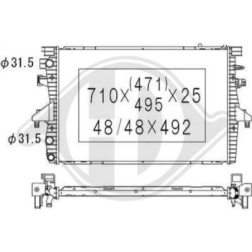 Diederichs DCM3448 Radiator, radiator: