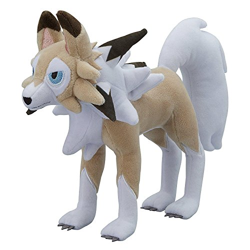 Pikachu Costume Wearing (TONGROU Lycanroc Plush Toy Rugarugan Stuffed Animal Doll)