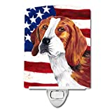 Caroline's Treasures USA American Flag with Beagle Night Light, 6'' x 4'', Multicolor