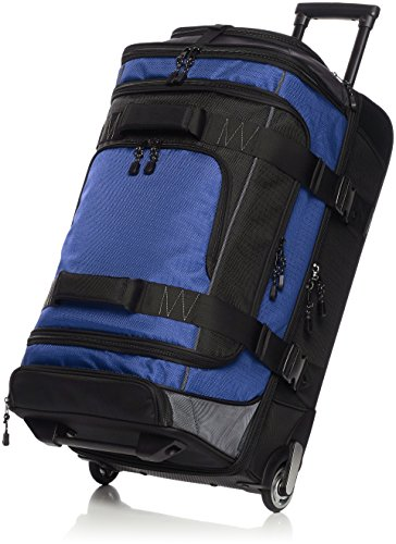 - AmazonBasics Ripstop Rolling Travel Luggage Duffle Bag With Wheels - 30 Inch, Blue