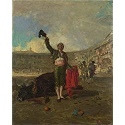 Polyster Canvas ,the Vivid Art Decorative Prints On Canvas Of Oil Painting 'Mariano Fortuny The Bull Fighter's Salute ', 10 X 12 Inch / 25 X 31 Cm Is Best For Gym Decor And Home Artwork And Gifts