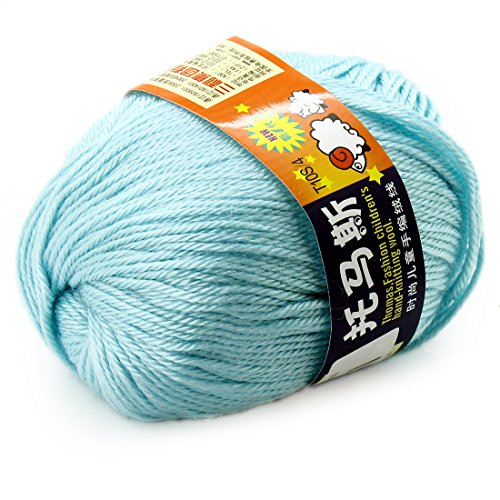 Worsted Wool Cashmere (joylive Soft Wool Worsted Sweater Cashmere Knitting Knitted Warm Baby Yarn 50g Light Blue)
