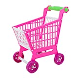 kids shopping trolley - Mini Play Shopping Cart, WOLFBUSH Grocery Cart Kids Supermarket Shopping Trolley Toy for Toddler - Pink