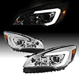 For 2013-2016 Ford Escape Light Strip Front Projector Headlamps Driver + Passenger 2013 2014 2015 2016