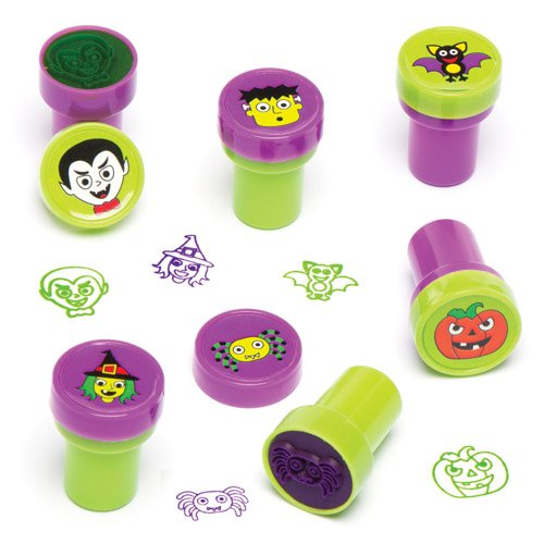 Baker Ross Halloween Self-Inking Stampers for Children. Make and Embellish Your Own Halloween Decorations and Crafts with This Perfect Party Bag Stuffer (Pack of 10) -