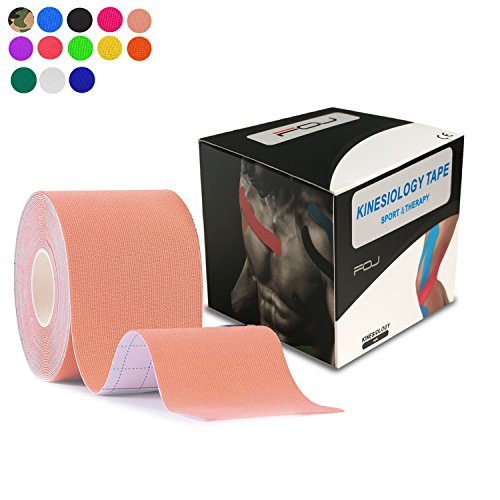 Kinesiology Theraeputic Tape Physio For Athletic Sports Recovery Pain Relieve Strong Adhesion Waterproof Original Cotton Uncut 2 Inch x 16.4 Feet (Beige)