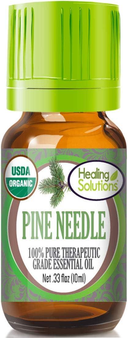 Organic Pine Needle Essential Oil (100% Pure - USDA Certified Organic) Best Therapeutic Grade Essential Oil - 10ml