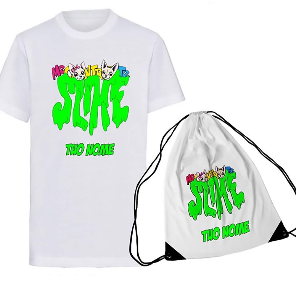 SpotApplick T Shirt Sacca Slime Bambino Bambina Me Contro Te Replica Youtube Sofi e Lui Mezza Manica Personalizzata