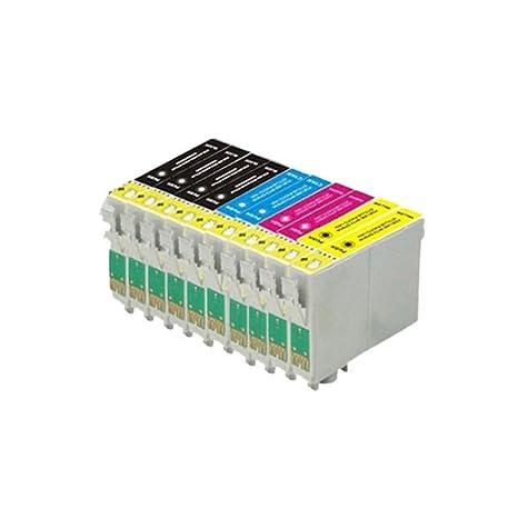 10 ECS Compatible T1285 Epson Cartuchos de Tinta para Epson Stylus ...