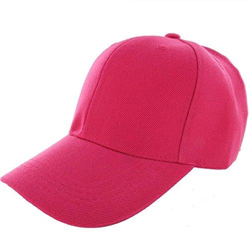 Jewish Hat With Curls Costume (Hot Pink-100% Acrylic Plain Baseball Cap Baseball Golf Fishing Cap Hat Men Women Adjustable Velcro (US Seller))