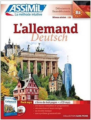 L' Allemand sans Peine [ German for French Speakers ] Book + 1 CD MP3 (German Edition)