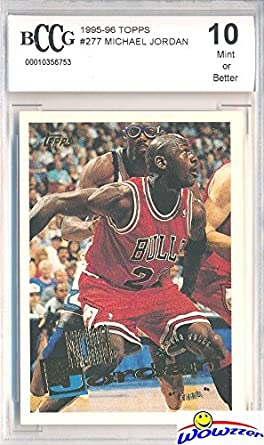 862a3fbbfd9 1995/96 Topps #277 Michael Jordan Graded BECKETT 10 MINT Chicago Bulls HOF!!