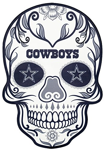 a8d89773 Applied Icon NFL Dallas Cowboys Outdoor Small Dia De Los Muertos Skull Decal