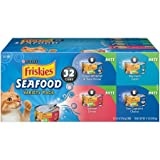 Purina Friskies Seafood Adult Wet Cat Food Variety Pack – (32) 5.5 oz. Cans, Pack of 2 For Sale