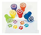 12 Birthday EVERYDAY Party Favors Mini PAW PRINT STAMPERS Stamps U.S Best Seller!