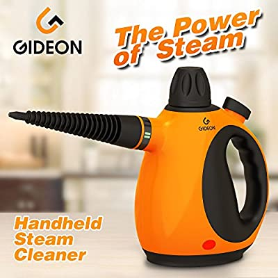 GideonTM Handheld Pressurized Steam Cleaner and Sanitizer / Powerful Multi-purpose Steamer, Removes Stains, Grease, Mold, etc. and Disinfects / Removes Wrinkles from Garments