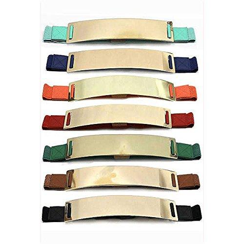 Metal Colored Wide Colored Metal Colored Belt Belt Half Half Wide qwpSxPq1