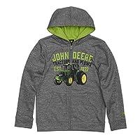 John Deere Tractor Youth Boy Fleece Zip Front Hoody Poly