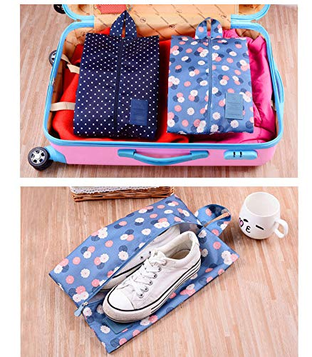 LAAT Shoe Organizer Bags Shoe Storage Bags Portable Travel Shoe Bags Luggage Organizers Travel Organizers Luggage Organizer Pouch Waterproof Travel Storage Bags Packing Cubes Set Clothes Packing by LAAT (Image #6)