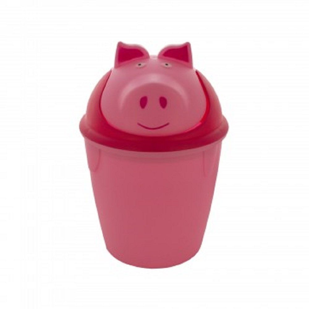 Kole Imports Animal Trash Can - Pig (Pink) by Kole Imports