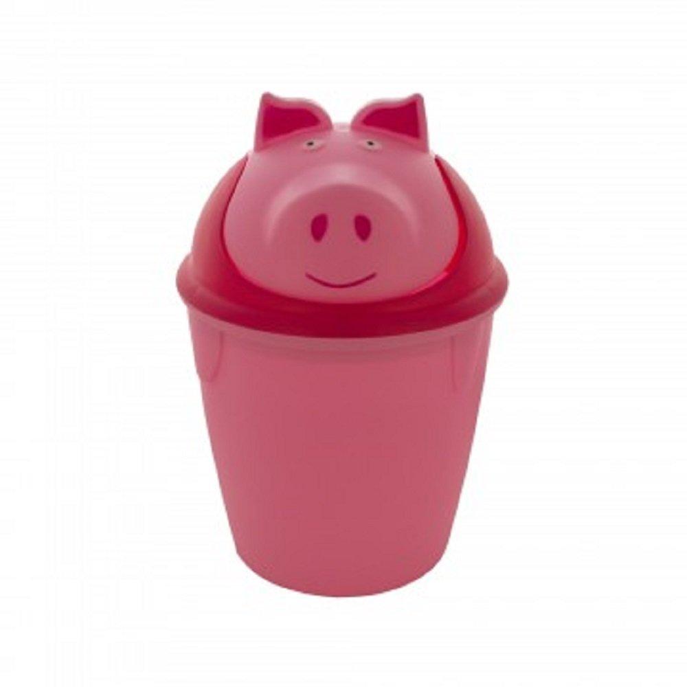Kole Imports Animal Trash Can - Pig (Pink)
