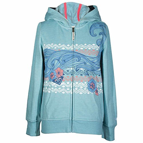 Roxy Girls Hoodie Cameo Blue Medium 10/12 -