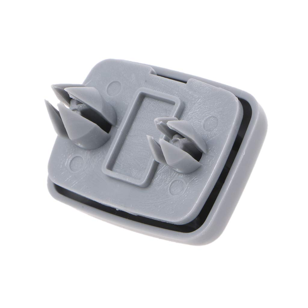 Soporte de pl/ástico para visera de coche color gris gris Qiulip 8U0857562 8E0857562