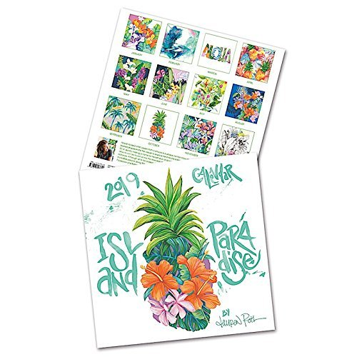 Island Paradise, 2019 12 Month Deluxe Calendar, January 2019 - December 2019